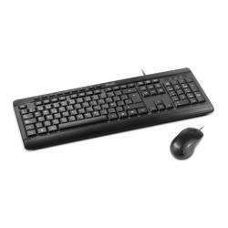 Kit de Teclado y Mouse Klip Xtreme DeskMate, Alámbrico, USB, Negro (Español)
