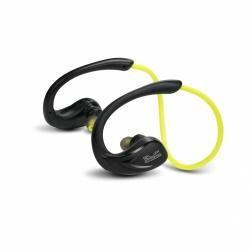 Klip Xtreme Audífonos Deportivos con Micrófono Athletik X, Bluetooth, Inalámbrico, Negro/Amarillo