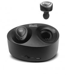 Klip Xtreme Audífonos Intrauriculares TwinBuds KHS-700, Inalámbrico, Bluetooth, Negro