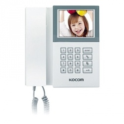 Kocom Video Portero con Auricular KAM-D340, Alámbrico, Blanco
