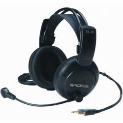 Koss Audífonos con Micrófono SB40, Alámbrico, 3.5mm, Negro