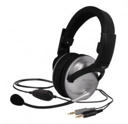 Koss Audífonos con Micrófono SB49, Alámbrico, 2.4 Metros, 3.5mm, Plata/Negro