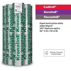 KronalinE Rollo de Papel Bond Prime White 80g/m², 35.8