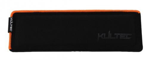 Kultec Reposa Muñecas KLTA1-3624, 11 x 34cm, Negro/Naranja