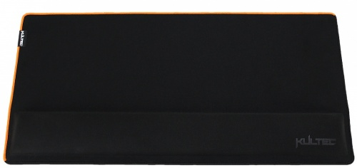 Mousepad Gamer Kultec con Descansa Muñecas KLTSPRO-3424, 71.5 x 35.5cm, Negro/Naranja
