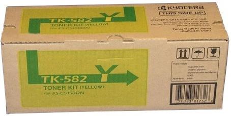 Tóner Kyocera TK- 582Y Amarillo, 2800 Páginas