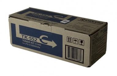 Tóner Kyocera TK-552C Cyan, 6000 Páginas