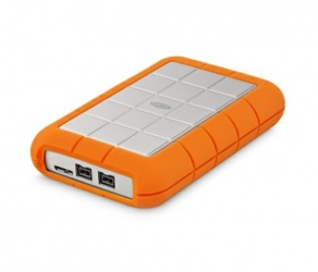 Disco Duro Externo LaCie Rugged Triple 2.5'', 1TB, USB 3.0, Blanco/Naranja