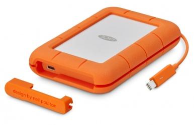 Disco Duro Externo LaCie Rugged Thunderbolt USB-C, 2TB, USB 2.0, Naranja/Blanco - para Mac/PC