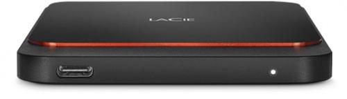SSD Externo LaCie Portable SSD, 2TB, USB C 3.1, Negro/Naranja - para Mac/PC