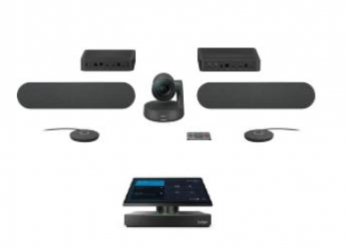 Lenovo Sistema de Videoconferencia ThinkSmart HUB 500 Con Micrófono, Full HD, 1x RJ-45, 3x HDMI, 4x USB, Negro ― incluye Logitech Cámara Rally Solution, Bocinas, Micrófonos y Hubs