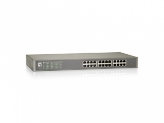 Switch LevelOne Fast Ethernet FSW-2450, 24 Puertos 10/100Mbps, 4.8 Gbit/s, 8192 Entradas - No Administrable
