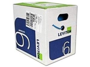 Leviton Bobina de Cable Cat6a UTP, 305 Metros, Azul