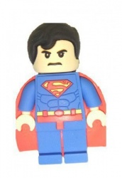 Memoria USB Levydal Superman Lego, 16GB, USB 2.0, Azul