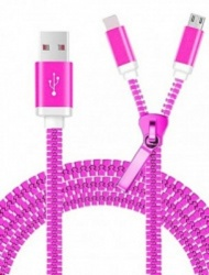 LevyDal Cable USB Macho - Micro-USB Macho, Púrpura
