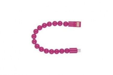 LevyDal Cable USB A Macho - Micro-USB B Macho, 10cm, Rosa