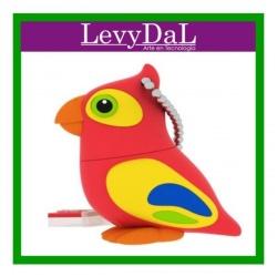 Memoria USB LevyDal Pájaro, 16GB, USB 2.0, Multicolor