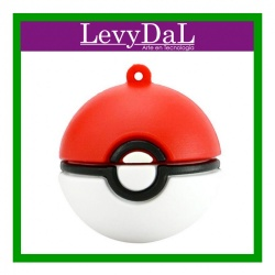 Memoria USB LevyDal Pokebola, 16GB, USB 2.0, Rojo/Blanco