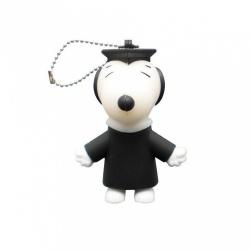 Memoria USB LevyDal Snoopy, 16GB, USB 2.0, Negro/Blanco