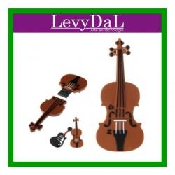 Memoria USB LevyDal Violin, Café, 16 GB, USB