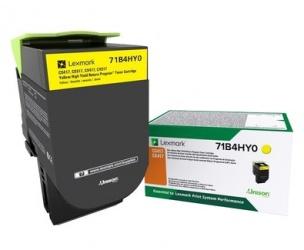 Tóner Lexmark 71B4HY0 Extra Alto Rendimiento Amarillo, 3500 Páginas