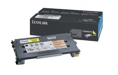 Tóner Lexmark C500H2YG Amarillo, 3000 Páginas