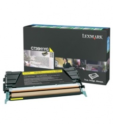 Tóner Lexmark Programa Retorno C736H1YG Amarillo, 10.000 Páginas