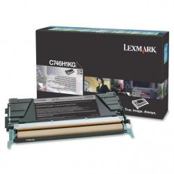 Tóner Lexmark C746H1KG Negro, 12.000 Páginas