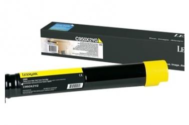 Tóner Lexmark C950X2YG Amarillo, 24.000 Páginas