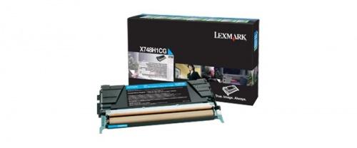 Toner Lexmark Programa Retorno X748H1CG Cyan, 10.000 Páginas