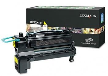 Toner Lexmark Programa Retorno X792X1YG Amarillo, 20.000 Páginas