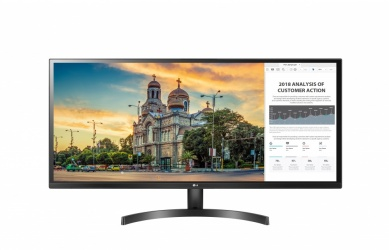 Monitor Gamer LG 34WK500-P LCD 34'', Full HD, Ultra-Wide, FreeSync, 75Hz, HDMI, Negro