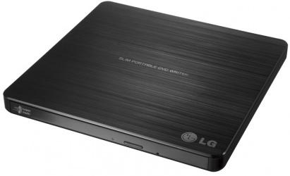LG GP60NB50 Quemador de DVD, DVD+R 8x/DVD+RW 8x, USB 2.0, Externo, Negro (Bulk)