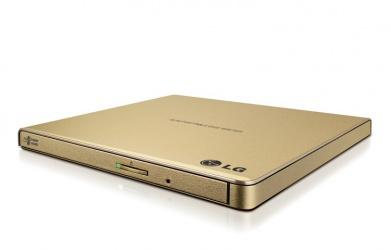LG GP65NG60 Quemador de DVD Portátil, DVD-R 8x, CD 24x, USB 2.0, Oro