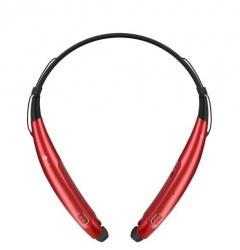 LG Audífonos Intrauriculares con Micrófono Tone Pro, Bluetooth, Inalámbrico, Negro/Rojo
