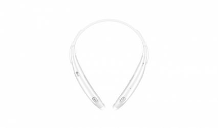 LG Audífonos Intrauriculares con Micrófono Tone Pro, Bluetooth, Inalámbrico, Blanco