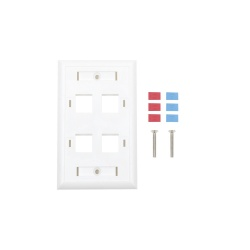 LinkedPRO Placa de Pared RJ-45, 4 Puertos, Blanco