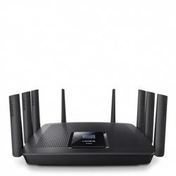 Router Linksys Gigabit Ethernet Smart de Triple Banda Max-Stream AC5400 MU-MIMO, Inalámbrico, 8x RJ-45, 2.4/5GHz, con 8 Antenas ― ¡Optimizado para Gaming!