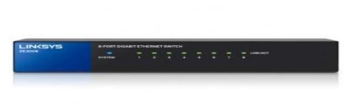 Switch Linksys Gigabit SE3008, 8 Puertos 10/100/1000 - No Administrable