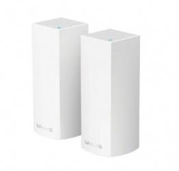 Router Linksys con Sistema de Red Wi-Fi en Malla Tri-Banda Velop AC4400, 867 Mbit/s, 2.4/5GHz, 2x RJ-45 - Kit de 2 Piezas