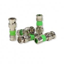Logico Conector RG59, Plata/Verde, 1 pieza