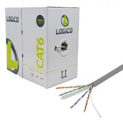 Logico Bobina de Cable Cat6 UTP, 305 Metros, Gris