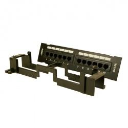 Logico Panel de Parcheo 12 Puertos UTP Cat5e, Negro