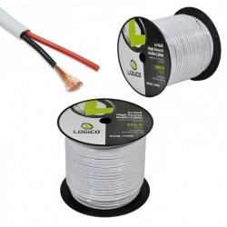 Logico Bobina de Cable para Audio, 152 Metros, Blanco
