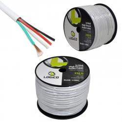 Logico Bobina de Cable de Audio, 76 Metros, Blanco
