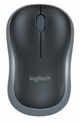 Mouse Logitech Óptico M185, Inalámbrico, USB, Negro
