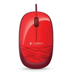 Mouse Logitech Óptico M105, Alámbrico, USB, Rojo