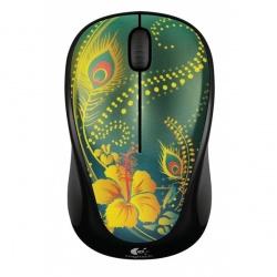 Mouse Logitech Óptico M317, Inalámbrico, USB, 1000DPI, Verde/Amarillo