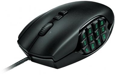 Mouse Gamer Logitech G600 Láser, Alámbrico, USB, 8200DPI, Negro