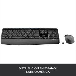 Kit de Teclado y Mouse Logitech MK345, Inalámbrico, USB, Negro (Español)